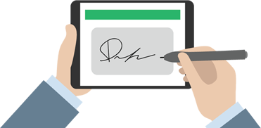 TaxCaddy Features E-signature on all devices